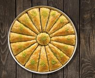 Turkse baklava royalty-vrije stock afbeelding