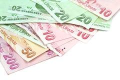 Turkse bankbiljetten Turkse Lire (TL) Stock Foto