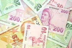 Turkse bankbiljetten Turkse Lire (TL) Stock Afbeelding