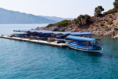 Turkse boten in baai Royalty-vrije Stock Foto