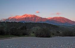 Turkse bovenkanten van bergen in het dageraadlicht Royalty-vrije Stock Foto's
