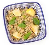 Turkse bulgur salade Royalty-vrije Stock Fotografie