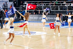 Turkse cheerleaders Royalty-vrije Stock Foto's