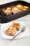 Turkse delicatessen, baklavasnoepje Royalty-vrije Stock Foto's