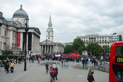 Turkse demonstratie in Trafalgar-Vierkant Royalty-vrije Stock Foto