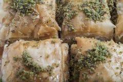 Turkse dessertbaklava Stock Afbeeldingen