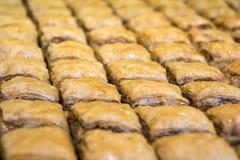 Turkse dessertbaklava Stock Foto's