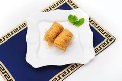 Turkse die dessertbaklava, ook goed - als de snoepjes van het Midden-Oosten wordt bekend Stock Fotografie