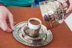 Traditionele Turkse koffie Stock Foto's