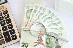 Turkse document bankbiljetten Stock Fotografie