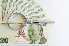 Turkse document bankbiljetten Stock Afbeeldingen