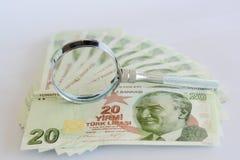 Turkse document bankbiljetten Royalty-vrije Stock Foto