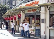 Turkse doner, kebap en hamburgerplaatsen royalty-vrije stock fotografie