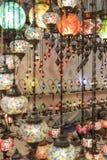 Turkse gekleurde lampen Royalty-vrije Stock Foto's