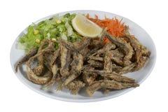 Turkse Hamsi Tava, Fried Anchovies Stock Foto's