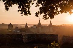 Turkse kasteelarchitectuur Europa Royalty-vrije Stock Fotografie