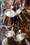 Turkse koffiepotten Stock Afbeeldingen