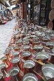 Turkse koffiepotten royalty-vrije stock fotografie