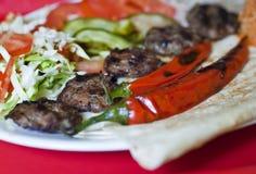 Turkse kofte (vleesbal) Royalty-vrije Stock Fotografie