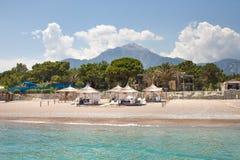 Turkse Kooi D 'Azur Vakantie in Kemer stock afbeelding