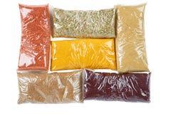 Turkse kruiden in pakket Stock Foto's