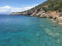 Turkse kustlijn Royalty-vrije Stock Afbeelding