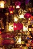 Turkse lampen bij Grote Bazaar in Istanboel Royalty-vrije Stock Afbeelding