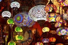 Turkse lampen in Istanboel, Turkije Stock Afbeelding