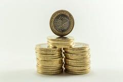 Turkse Lire - Ijzergeld 1 TL Royalty-vrije Stock Afbeeldingen