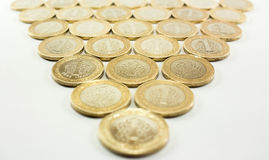 Turkse Lire - Ijzergeld 1 TL Royalty-vrije Stock Foto