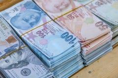 Turkse Lire, Turks Geld Turkse Turk Parası Het kopen, document royalty-vrije stock afbeeldingen