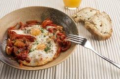 Turkse Menemen-eieren Stock Afbeelding