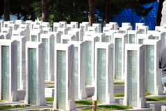 Turkse Militaire Begraafplaats Stock Foto