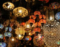 Turkse mozaïeklamp royalty-vrije stock foto