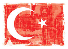 Turkse nationale vlag stock illustratie
