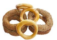 Turkse ongezuurde broodjes Stock Fotografie