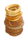Turkse ongezuurde broodjes Royalty-vrije Stock Afbeelding