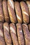 Turkse Ongezuurde broodjes/Simit Royalty-vrije Stock Afbeeldingen