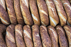 Turkse Ongezuurde broodjes/Simit Royalty-vrije Stock Fotografie