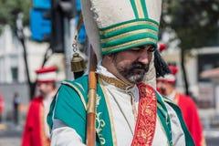 Turkse Ottomane Militaire Band maart voor Militaire parade royalty-vrije stock afbeelding