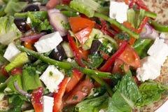 Turkse saladeclose-up Royalty-vrije Stock Afbeeldingen