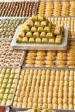 Turkse snoepjes op platen royalty-vrije stock afbeelding