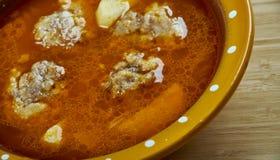 Turkse soep met vleesballetjes Royalty-vrije Stock Afbeelding