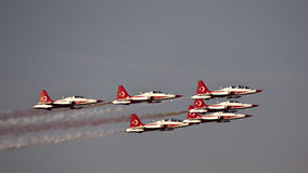 Turkse Sterren Acroteam Airshow Royalty-vrije Stock Foto's