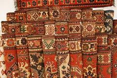 Turkse tapijten stock afbeeldingen