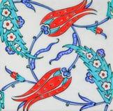Turkse tegels - het ontwerp van de Tulp Royalty-vrije Stock Foto's