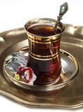 Turkse thee en verrukkingen Royalty-vrije Stock Foto's