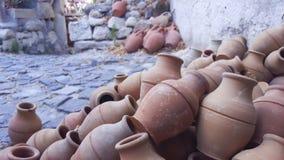 Turkse traditionele waterkruiken Stock Fotografie