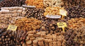 Turkse verrukking die in de bazaar wordt verkocht Royalty-vrije Stock Fotografie