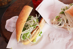 Turkse vissenhamburger Stock Foto's